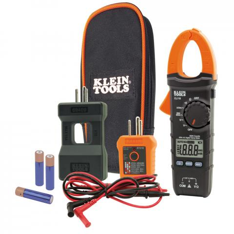 Electrical Tester Kit with Clamp Meter and GFCI Outlet Tester